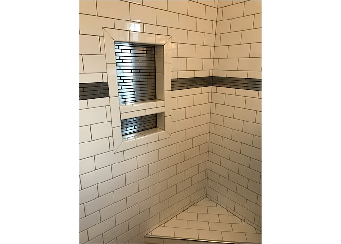 Tile showers, bathroom remodeling
