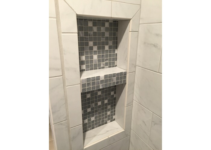 Custom Tile shower, bathroom remodeling